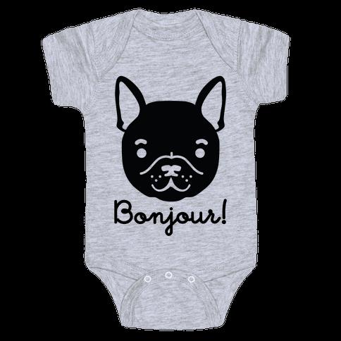 Bonjour French Bulldog Baby Onesy