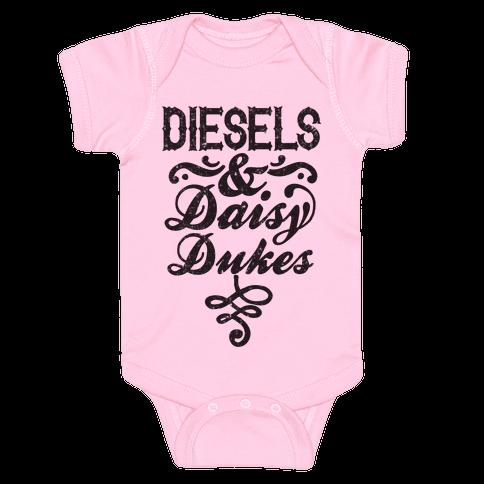Diesels And Daisy Dukes Baby Onesy