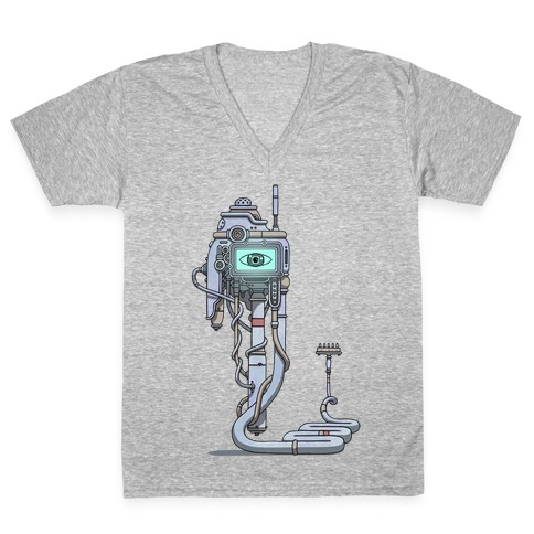 Snake Computer V-Neck Tee Shirt