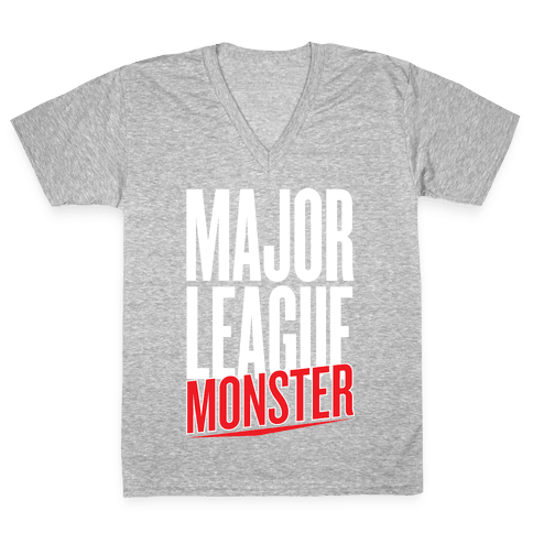 Major League Monster V-Neck Tee Shirt
