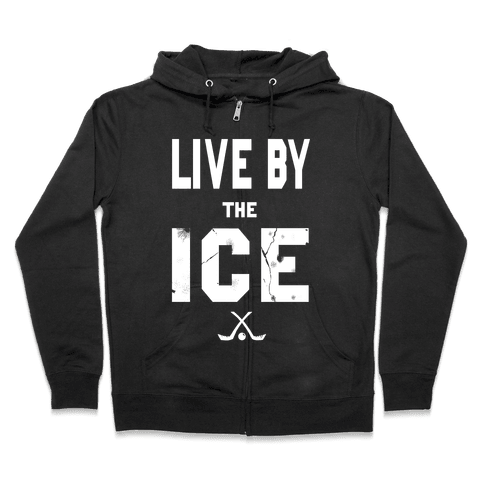 Live by the Ice (dark) Zip Hoodie