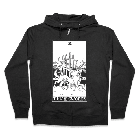The Ten Of Swords Zip Hoodie