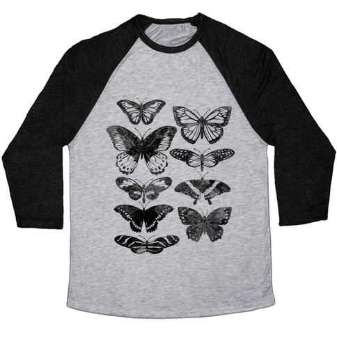 Butterfly Species Baseball Tee