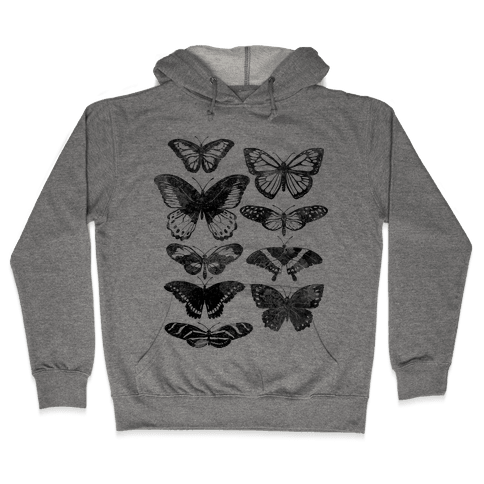 Butterfly Species Hooded Sweatshirt