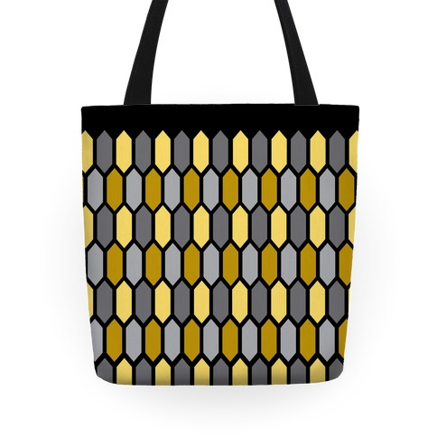 Gold Crystal Pattern Tote