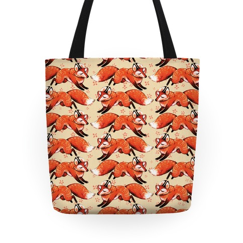 Running Foxes Pattern Tote