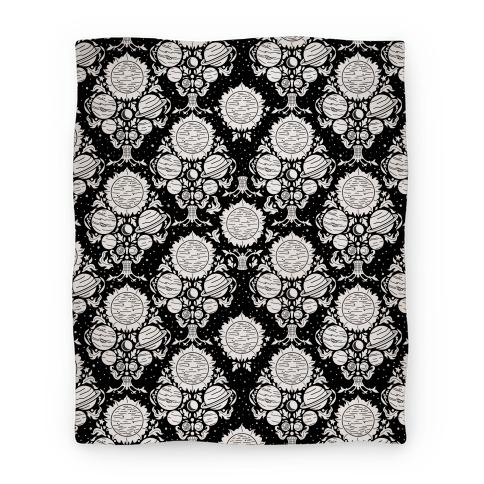 Victorian Planet Pattern Blanket