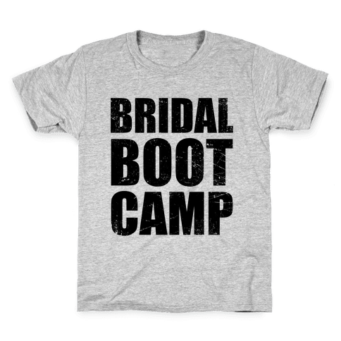 Bridal Boot Camp (Tank) Kids T-Shirt