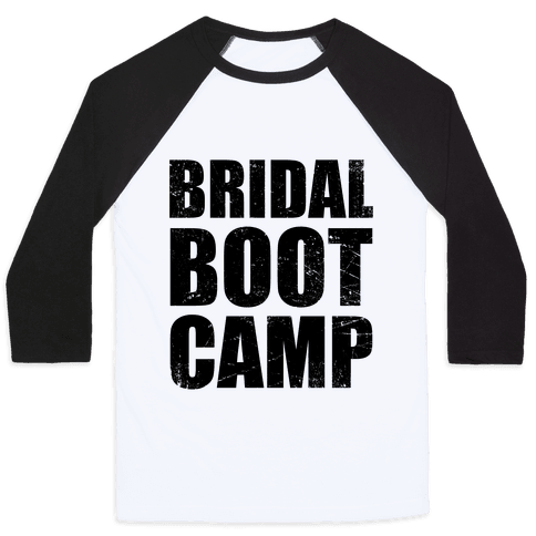 Bridal Boot Camp (Tank) Baseball Tee