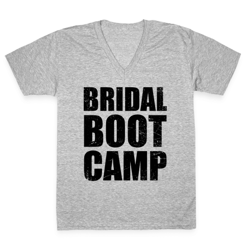 Bridal Boot Camp (Tank) V-Neck Tee Shirt