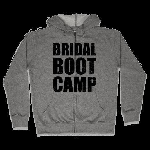 Bridal Boot Camp (Tank) Zip Hoodie