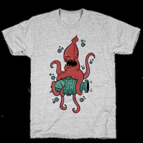 Squid Attack Mens T-Shirt