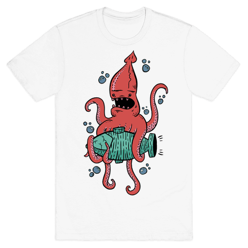 Squid Attack Mens T-Shirt