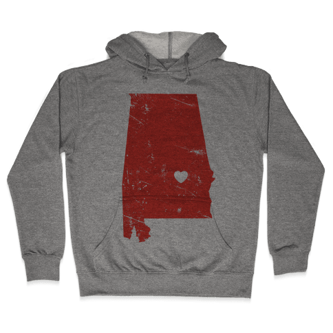 Alabama Heart Hooded Sweatshirt