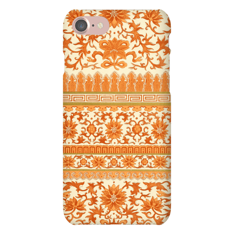 Ornate Pattern Case (Orange) Phone Case