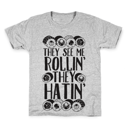 They See Me Rollin' They Hatin' Sushi Roll Kids T-Shirt