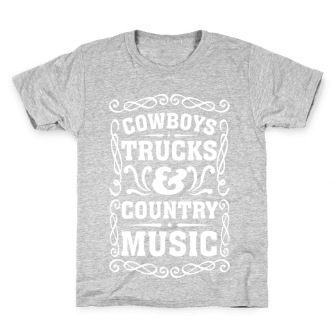 Cowboys Trucks & Country Music Kids T-Shirt