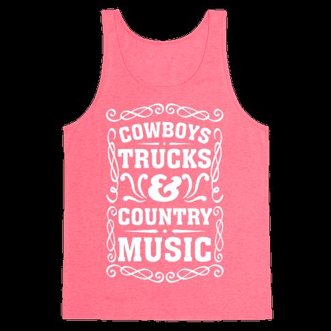 Cowboys Trucks & Country Music Tank Top