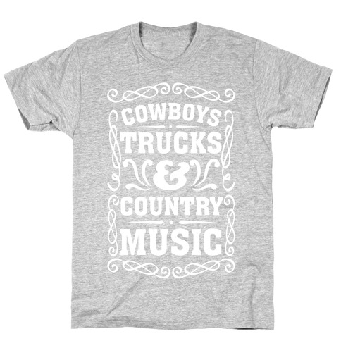 Cowboys Trucks & Country Music T-Shirt