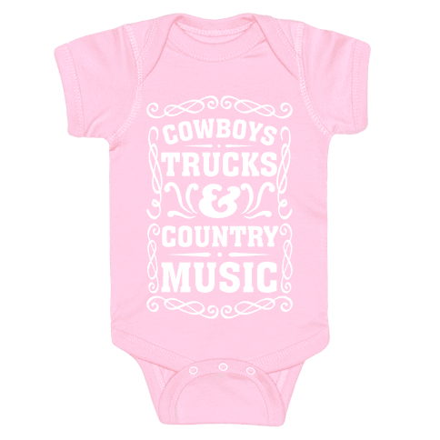 Cowboys Trucks & Country Music Baby Onesy