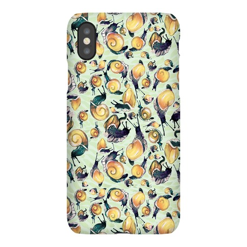 Golden Snail Shells Phone Case