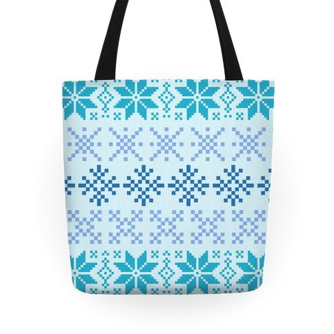 Blue Sweater Pattern Tote