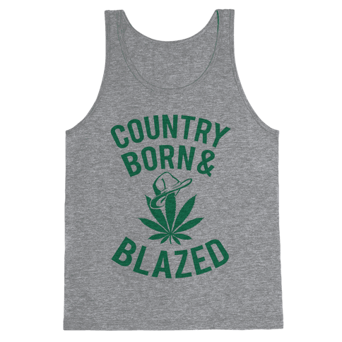 Country Born & Blazed Tank Top