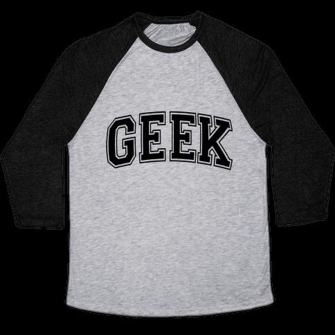 Geek Baseball Tee