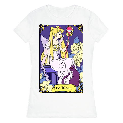 The Moon Tarot Womens T-Shirt