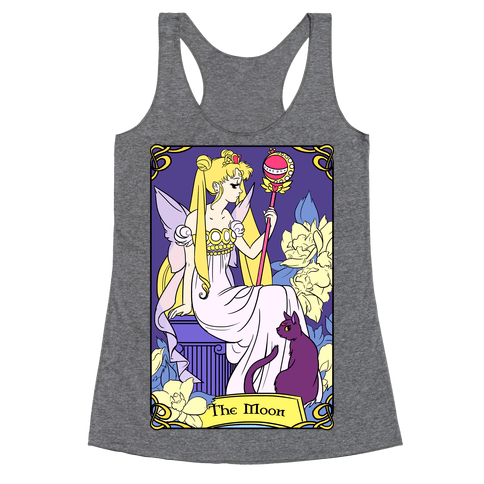 The Moon Tarot Racerback Tank Top