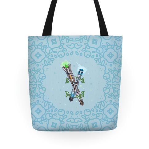 Watercolor Doctor Who Icon (Sonic Screwdrivers) tote Tote