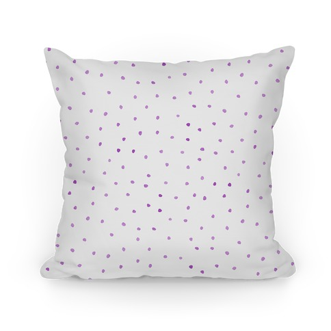 Purple Watercolor Polka Dots Pillow