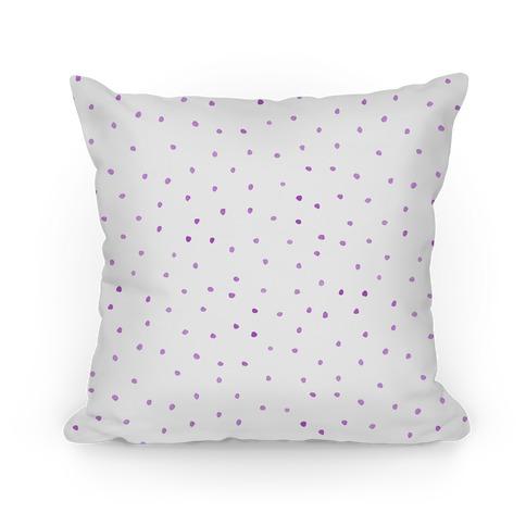 Purple Watercolor Polka Dots Pillow