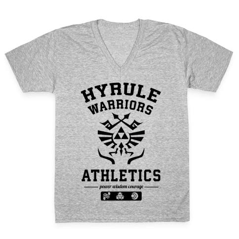 Hyrule Warriors Athletics V-Neck Tee Shirt