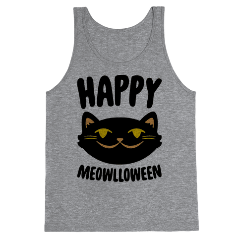 Happy Meowlloween Tank Top