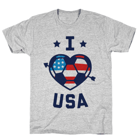 I Love USA (Soccer) Mens T-Shirt