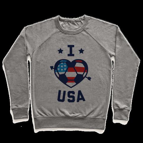 I Love USA (Soccer) Pullover