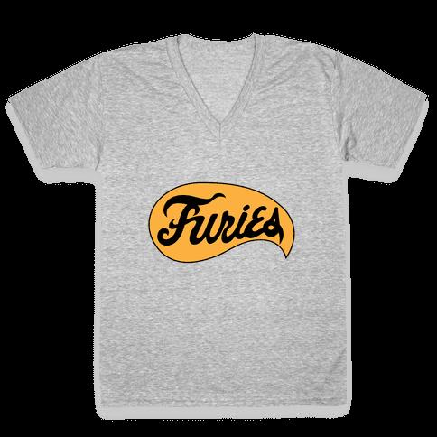 The Baseball Furies V-Neck Tee Shirt