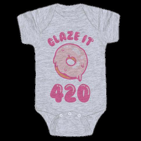 Glaze It 420 Donut Baby Onesy