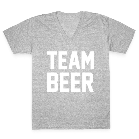 Team Beer V-Neck Tee Shirt