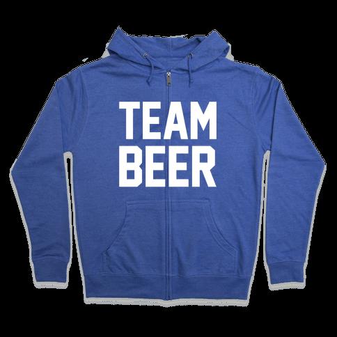 Team Beer Zip Hoodie