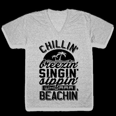 Beachin' V-Neck Tee Shirt