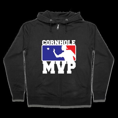 Cornhole MVP Zip Hoodie