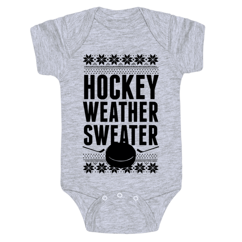 Hockey Weather Sweater Baby Onesy