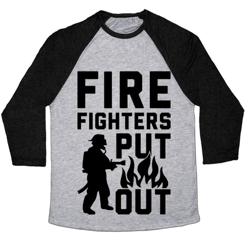 Firefighters Put Out Baseball Tee