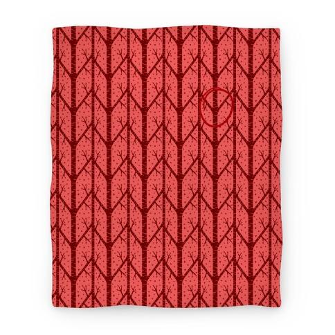 Red Tree Pattern Blanket