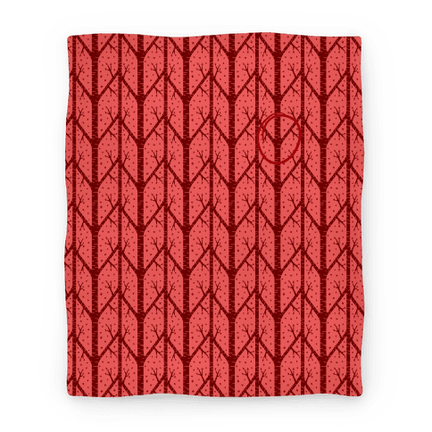 Red Tree Pattern Blanket