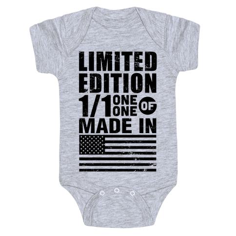 Limited Edition Made In America Baby Onesy