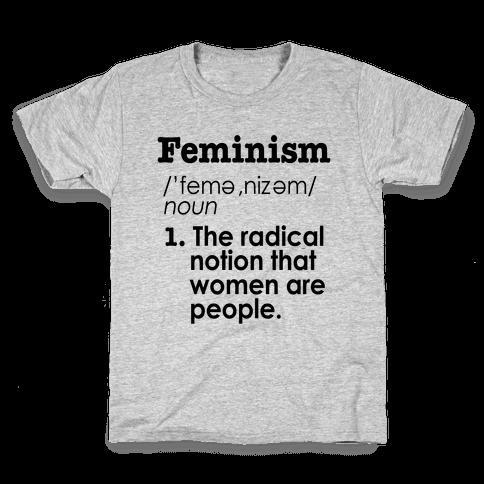 Feminism Definition Kids T-Shirt