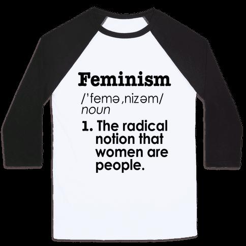 Feminism Definition Baseball Tee